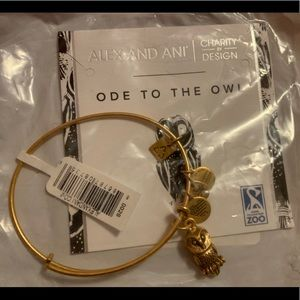 Alex and ani owl bracelet